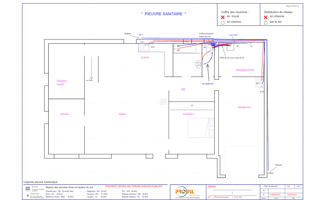 Plan pieuvre hydraulique électrique Pro'Fil
