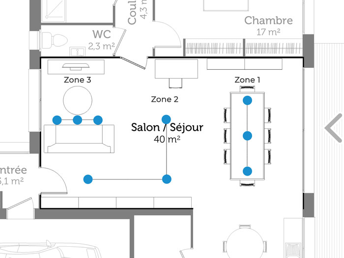 Emplacement SPOT salon